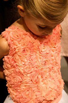 Beautiful rose effect bodice from a dress by Italian designer Miss Blumarine for summer 2014 kids fashion