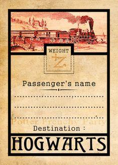 Potter frenchy party - Inspiration : le Poudlard Express, le train des jeunes…