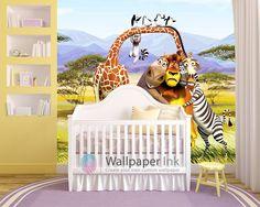 Nursery Themes Room Ideas Disney House Custom Wallpaper Baby Boy Nurseries Madagascar