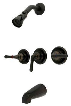 oil rubbed bronze 3 handle combination bathroom tub u0026 shower diverter faucet