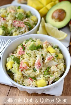 California Crab and Quinoa Salad from http://iowagirleats.com/