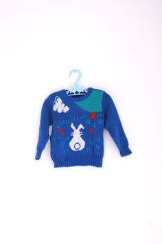 Vintage toddler bunny sweater 12 to 18 months by fuzzymama on Etsy, $12.00