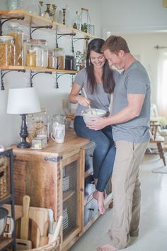 kitchen engagement photos | baking engagement session | at home engagement photos | Sara and Scott Love Stories | 13:13 Photography | www.1313photography.com
