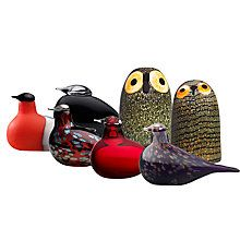 Buy Iittala Toikka Birds Little Barn Owl from our Ornaments range at John Lewis & Partners. Birds Online, Be Design, Little Barn, Bullfinch, Glass Birds, Painted Paper, Glass Collection, Colored Glass, Interior Styling