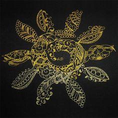 Sun zendoodle 2030 machine embroidery design www.cyncopia.com