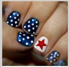 Easy Flag nails