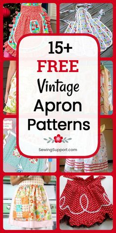 Great Free sewing tutorials aprons Tips Vintage Aprons to sew. 19 free vintage apron patterns, diy projects, and sewing tutorials. Full an Apron Pattern Free, Vintage Apron Pattern, Aprons Vintage, Sewing Patterns Free, Free Sewing, Pattern Sewing, Retro Apron Patterns, Clothes Patterns, Christmas Sewing Patterns