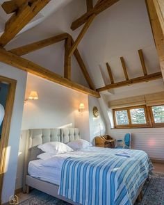 How do you like the high ceilings in this luxury bedroom ?
