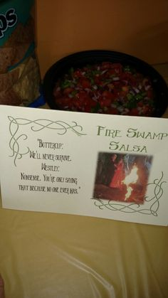 Princess Bride Party... Fire Swamp Salsa