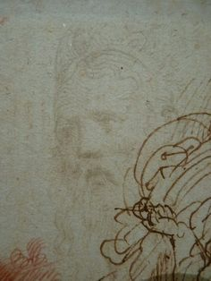 "PARMIGIANINO,1524 - Portrait de Galeazzo Sanvitale, Seigneur de Fontanellato, Etude (Louvre INV6472-Verso) - Detail -d  -  TAGS : drawing dessin disegno figure figures people personnes art painter peintre details détail détails ""Le Parmesan"" Parmesan ""Francesco Mazzola"" Francesco Mazzola Italy Italy Parme Parma France croquis étude study sketch sketches sanguine ""red chalk"" portrait Seigneur Fontanellato lord tête homme man ""tête d'homme barbu"" ""bearded man's head"" barbu bearded beard barbe"