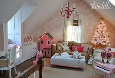 Well, I finally finished going through all of the photos I took of the girls' playroom. I took them two different days (all while th...