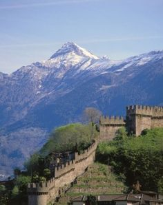 Switzerland, canton Tessin, Bellinzona,  Castello Montebello