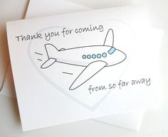 Wedding Thank You for coming from so far away Card by lilcubby