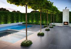 88 inspiring small pool remodel for your backyard 21 - Homeadzki Website Modern Landscape Design, Modern Landscaping, Backyard Landscaping, Landscaping Ideas, Modern Design, Swimming Pool Designs, Swimming Pools, Outdoor Pool, Outdoor Gardens