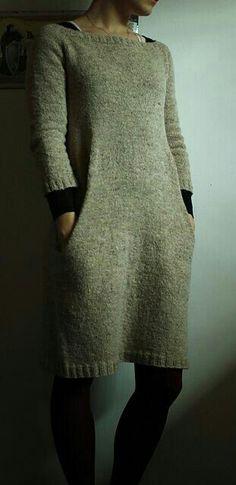 Knitted Jumper Dress New Look Crochet Dress Dish Towel Pattern Knit Skirt, Knit Dress, Sweater Dresses, Jumper Dress, Lace Dress, Elegantes Outfit, Tunic Pattern, Free Pattern, Pulls