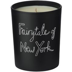 Bella Freud Fairytale Of New York Candle (235 RON) ❤ liked on Polyvore featuring home, home decor, candles & candleholders, decor, backgrounds, filler, black, scented candles, flower scented candles and blooming candle