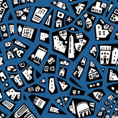 Jane Dixon - City Scenes - City Map in Teal