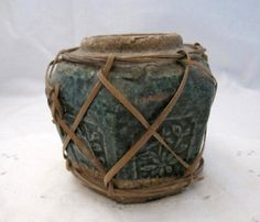 Antique green pottery Chinese Ginger Jar pot by lillieandnora, $55.50