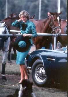 1986-06-19 Diana at a Polo Match at the Guards' Club in Windsor