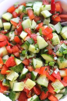 Mediterranean Cucumber Salad is light and simple.