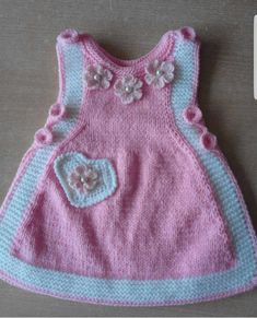 2 Colorful Flower Heart And Pearl Ornament Making Childrens Gilet. Age 2 Colorful Flower Heart And Pearl Ornament Making Childrens Gilet. Crochet Baby Sweaters, Knitted Baby Clothes, Knit Crochet, Knit Baby Dress, Crochet Baby Booties, Baby Pullover, Baby Cardigan, Baby Girl Patterns, Baby Knitting Patterns
