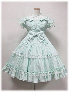 Angelic Pretty - Precocious Tiered OP (Plain) /// ¥27,090 /// Bust: 90~100cm Waist: 71~81cm Length: 88cm