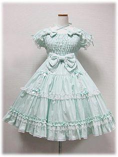 Angelic Pretty - Precocious Tiered OP (Plain) /// ¥27,090 /// Bust: 90~100cm Waist: 71~81cm Length: 88cm
