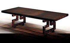 ARCHITECTURE - MACASSAR EBONY ARCHITECTURAL TABLE ART BARCI