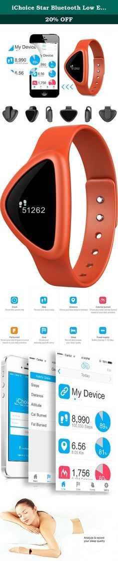 iChoice Star Bluetooth Low Energy Activity Tracker with BMI Management,Tracking Steps,Distance,Calories Burned,Fat Burned Functions (Orange). Choicemmed A30 ORANGE iChoice Life Product Features Record and analyze your sleep quality BMI management and Tracks steps,stance,calories burned,fat burned Syncs automatically to your iPhone4S/5/5C/5S/6,Android 4.3 and up devices via Bluetooth 4.0,androiGud APP will be published soon You can set goals,view progress and share with friends Optional…