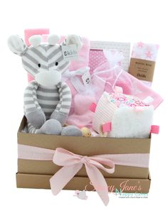 Adorned with beautiful and practical items this deluxe pink scribble star baby gift h&er is perfect  sc 1 st  Pinterest & 70 Best Baby Gift Hampers from Stacey Janeu0027s Nappy Cakes images in ...
