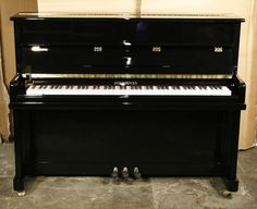 A brand new Steinhoven model 110 upright piano with a black case and polyester finish at Besbrode Pianos £1895. Piano comes with a 5 year manufacturers warranty. Great student piano.