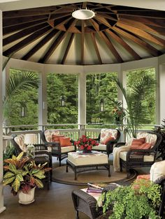 Savvy Southern Style: Outdoor Rooms - or for us in the Pacific NW, add windows for a sun room.