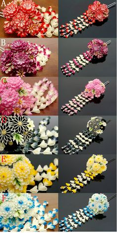 kanzashi; I bought a few of these at an Orlando flea market when I worked at Walt Disney World.  I paid about $2.50 for each of them-boy what a bargain I got!