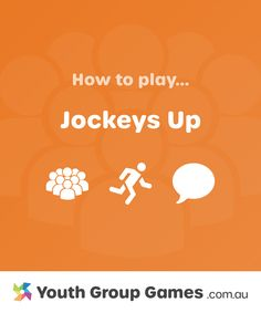 Jockeys Up | Youth Group Games Large Group Games, Youth Group Games, Circle Game, Icebreaker, Height And Weight, When Someone, Girls, Party, Christmas