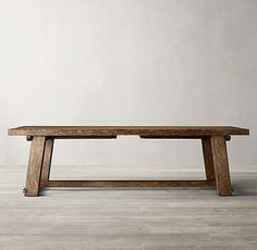Italian Blacksmith Oak Rectangular Extension Dining Table Wood Table, Dining Room Table, Dining Bench, Restoration Hardware Table, Extension Dining Table, Weathered Wood, Wood Design, Joinery, Blacksmithing