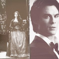Imagen de damon salvatore, the vampire diares, and elena gilbert