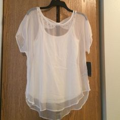 Amazing designer sheer top Super light super sexy top Ella Moss Tops