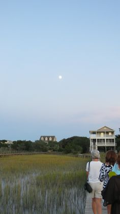 Moon walk back from marsh