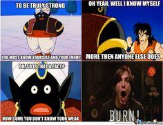 Mr. Popo burn Dragon Ball Z funny