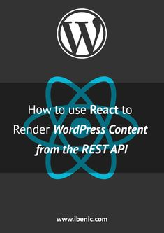 Learn how to use React and fetch the post data from the WordPresss REST API. Learn Wordpress, Wordpress Plugins, Ecommerce, Dress For Success, Web Development, Being Used, Rest, About Me Blog, Content