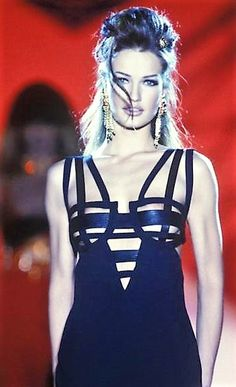 Karen Mulder - Atelier Versace, Spring-Summer 1992, Couture