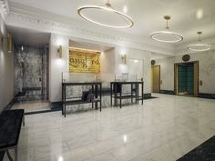 The lobby of the newly restored the Langford Hotel in downtown Miami #storiestotell