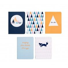 B7 ESSENTIAL NOTEBOOKS 5PK: MOUNTAINS