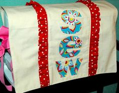 Clippie Dips has put together a tutorial for making your sewing machine cover.  We really love the design.  So cute!