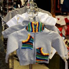 Creations creates kids items too! Check out this cute baby hoodie with knitted embellishment. Upcycled Clothing, Knitting Ideas, Hoodies, Sweatshirts, Cute Babies, Christmas Sweaters, Craft, Check, Fabric