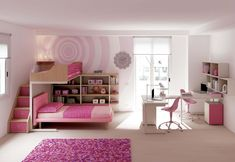 Modern interior design for amazing apartment Contemporary Bunk Beds, Ikea, Childrens Bedroom Decor, Bunk Beds With Stairs, Home Curtains, Home Rugs, Modern Bedroom, Home Furniture, Kids Room