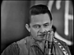 "Johnny Cash at Town Hall Party in 1958 singing ""I Walk The Line"""