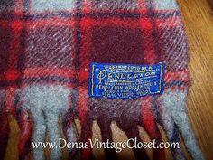 Vintage Red Plaid Pendleton Wool Blanket