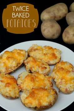 Twice Baked Potatoes. These are our favorite way to serve potatoes - so yummy! #potatoes
