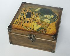 Wooden tea box. Tea storage box. Tea bag box. от DecoupageMargaret